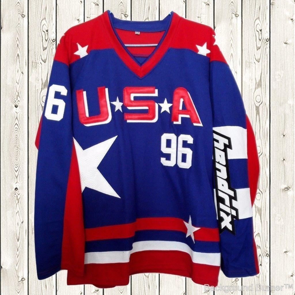 3c0e3f0bd Charlie Conway Hockey Stitched Jersey USA Mighty Ducks Movie  96 Blue  S-XXXL - Athletic Apparel