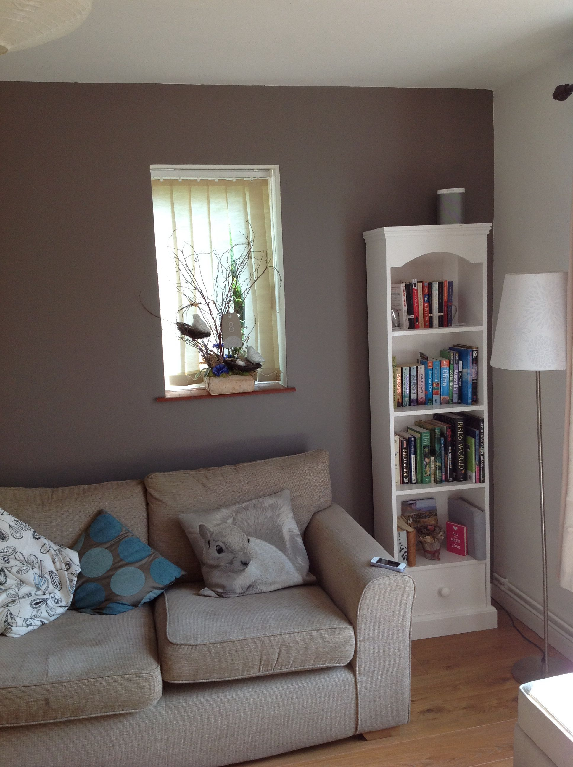 Feature Wall In Our Living Room Paint Colour Dulux Classics Cocoa Powder