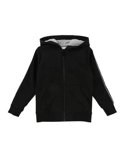 af1bbbf2dbe Givenchy Zip-Up Hooded Jacket w  Logo Sleeves