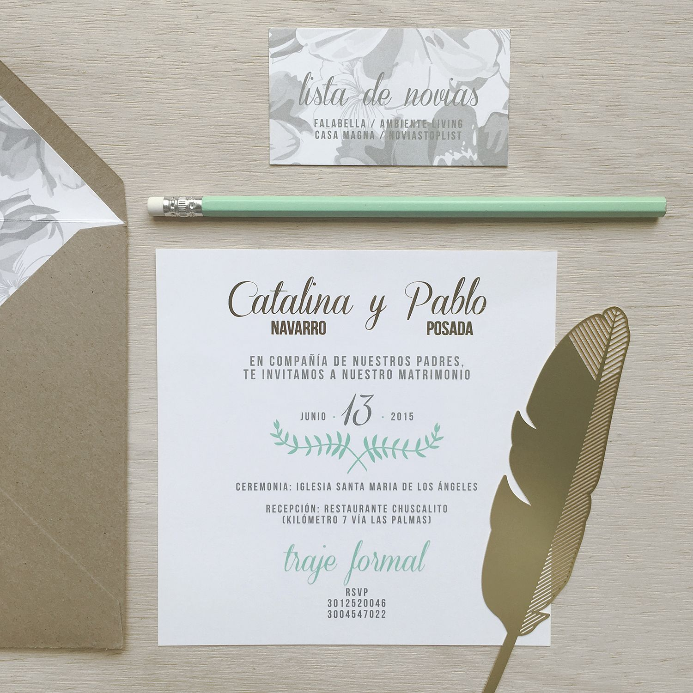 WEDDING CARD CATALINA AND PABLO