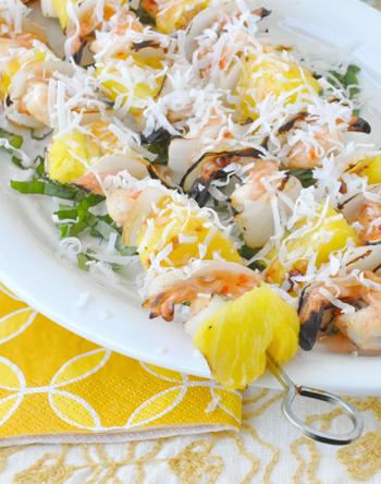 Grilled Coconut Shrimp Kebabs