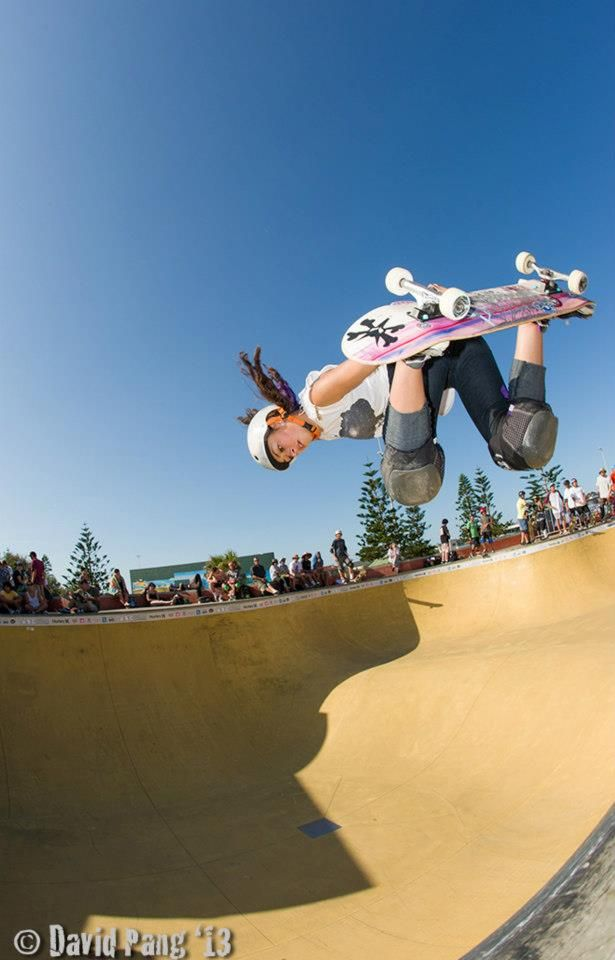 #skate #skateboard Game Changer in Girls Skateboarding after ABC and Bowl-A-Rama contests.