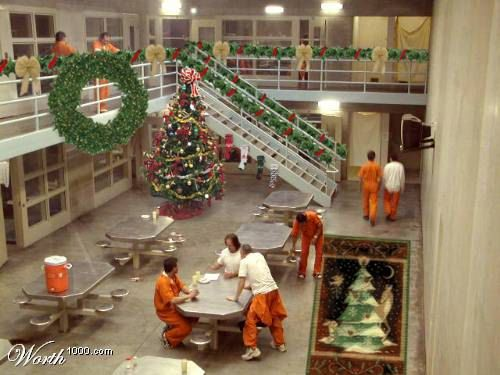Christmas In Prison.Cell Block Decorated For Christmas Martha Stewart In