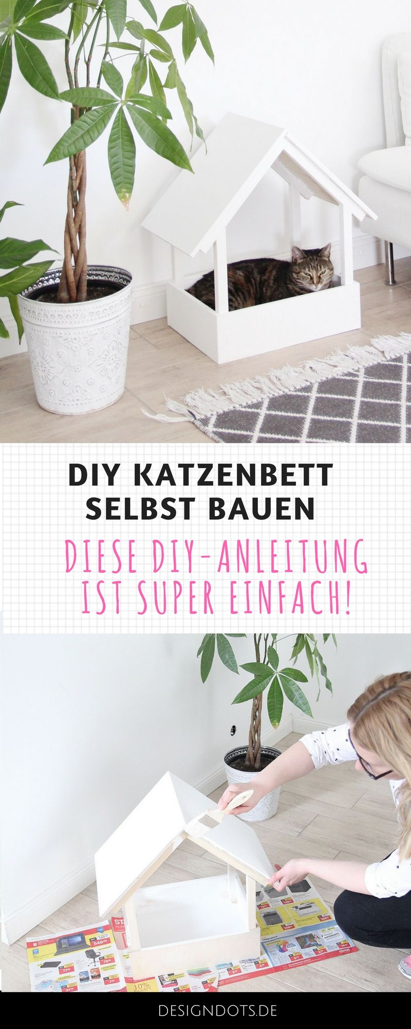 diy stillvolles katzenbett selbst bauen pinterest katzenm bel selber bauen und anleitungen. Black Bedroom Furniture Sets. Home Design Ideas