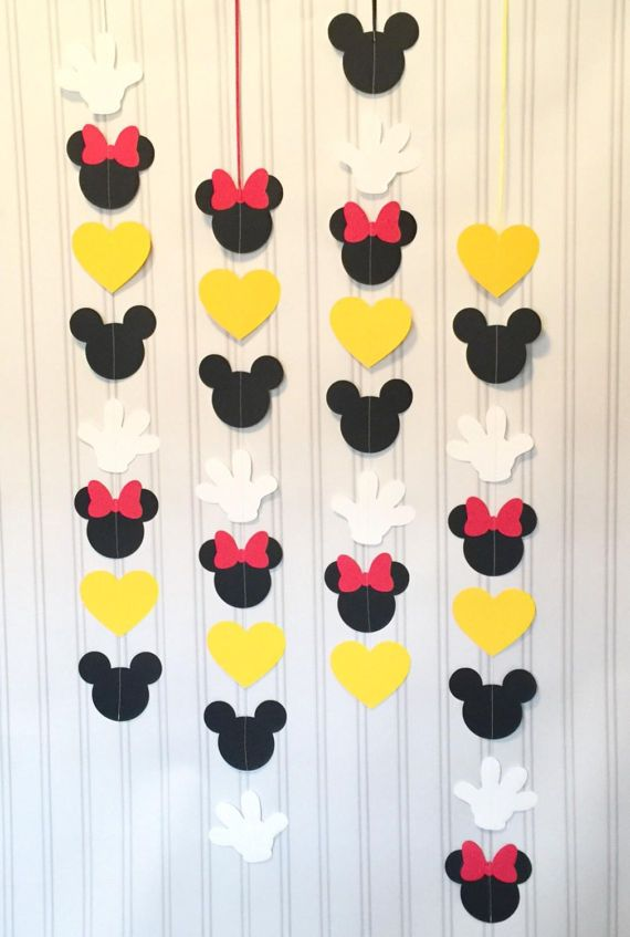 Wonderbaarlijk Mickey and Minnie Garlands set of 4 or 8 VERTICAL, Mickey Mouse ZP-76
