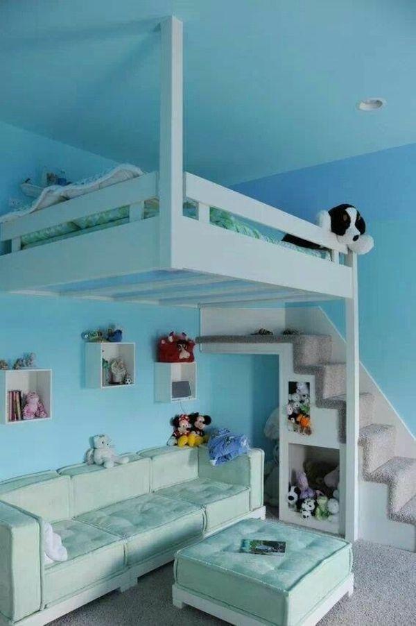 125 groartige ideen zur kinderzimmergestaltung kinderzimmergestaltung fr kleinen raum sofa bett - Platzsparende Betten Fr Kleine Rume