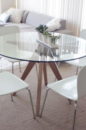 Cb2 Modern Teepee Glass Dining Table Stuff To Buy Dining Glass