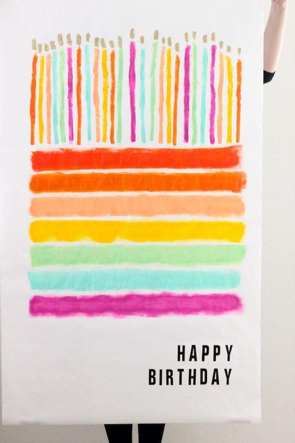 Make A Gigantic Birthday Poster Art Crafts Diy Pinterest