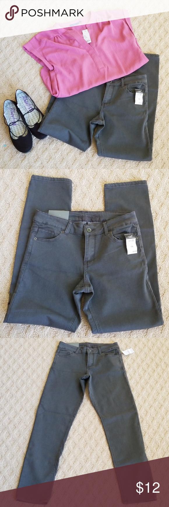 Rue 21 Freedom Flex Gray Jean Mid Rise 7 8 Regular Fashion Grey Jeans Clothes Design