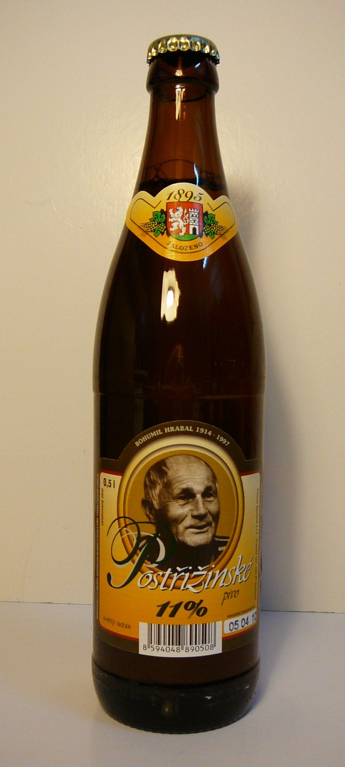 Pivovar Nymburk - Postrizinske Svetly lezak pivo 4,7% pullo