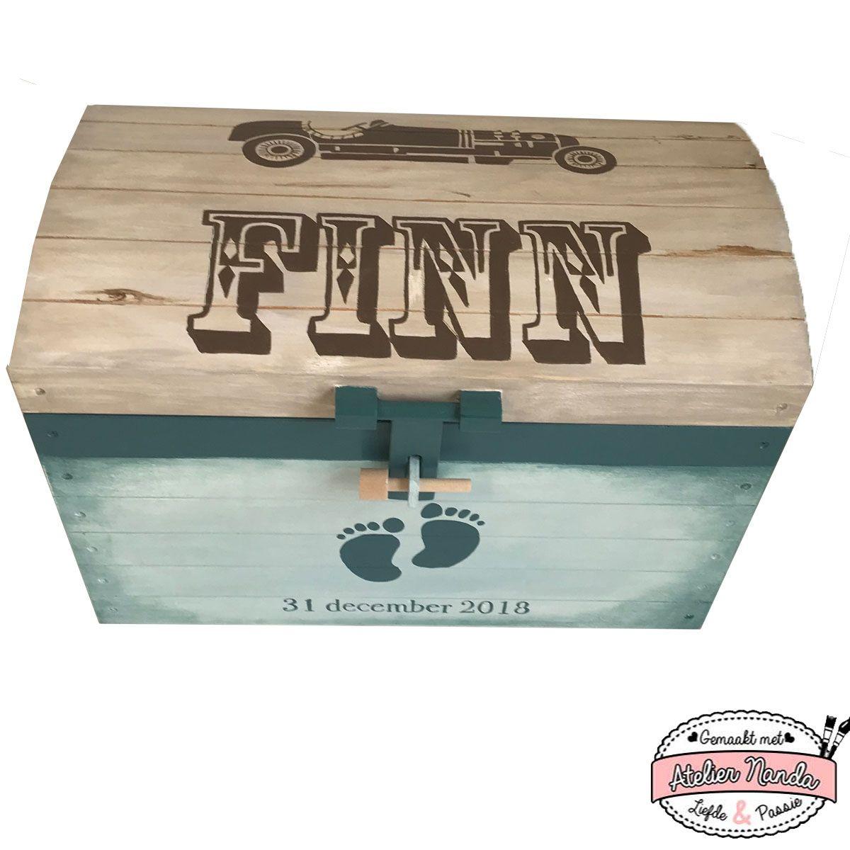 Een Stoere Speelgoedkist Voor Finn Geboortekist