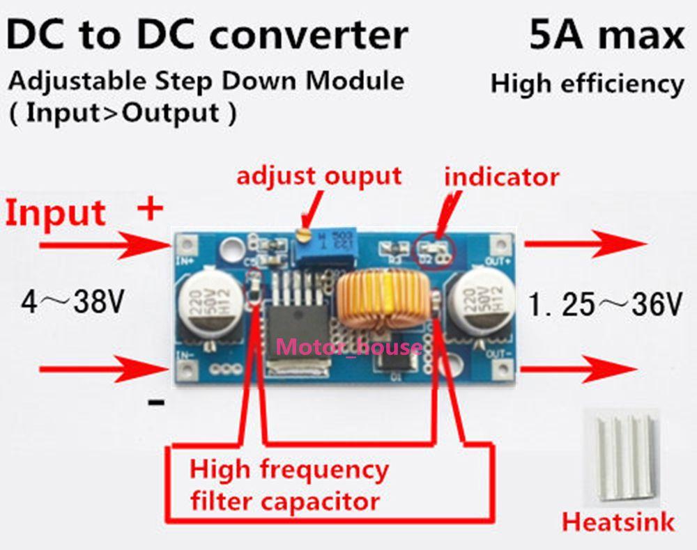 DC-DC 38V Digital Step-up Step-down Module Boost Buck Converter Solar Charging K