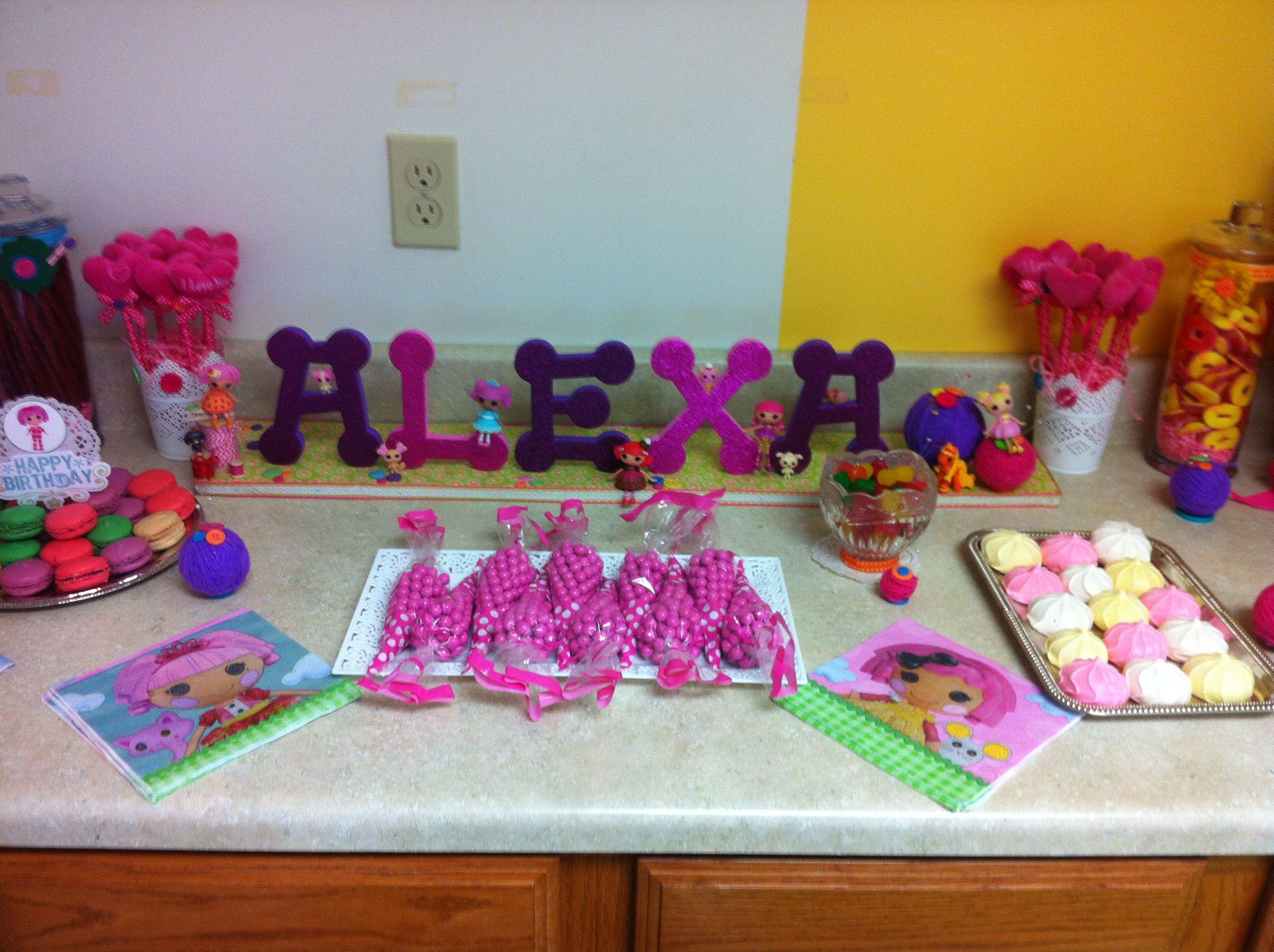 Lalaloopsy Birthday Party Name Sign Decoration Candy Bar Idea