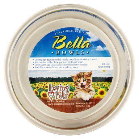 Loving Pets Bella Pet Bowl X Small Fish Purple Pet Bowls Love