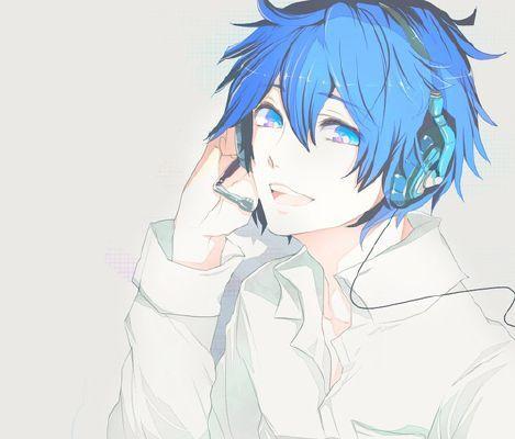 Chiharu Anime Boy Hair Blue Anime Blue Hair Anime Boy