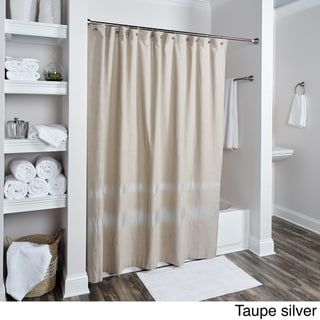 Shower Curtain By Rizzy Home Charcoal Solid Color Embroidered