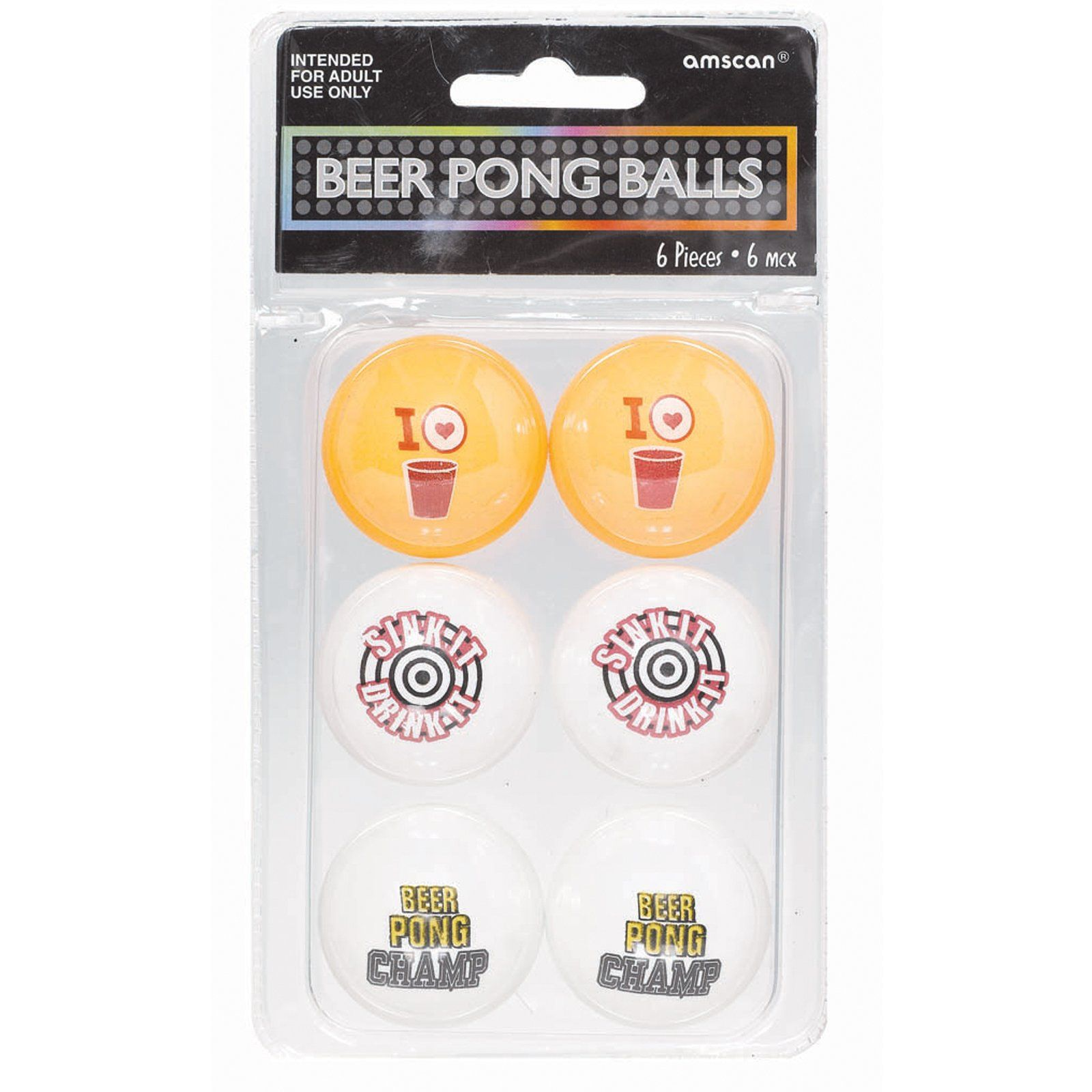 Beer Ping Pong Balls (6 count) Description The rules are