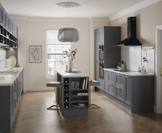 Allendale Slate Grey Kitchens Pinterest Slate Shaker Kitchen - Slate gray cabinets