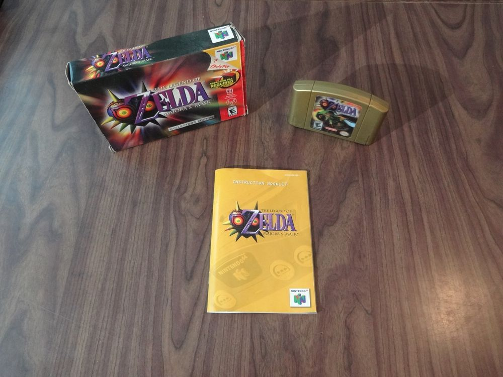 The  Legend of Zelda: Majora's Mask (Nintendo 64, N64) Complete in Box / CIB