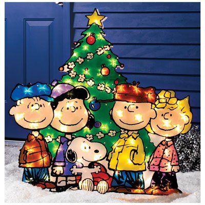 Christmas Outdoor Decor Peanut Gang with Tree  httpwwwamazon