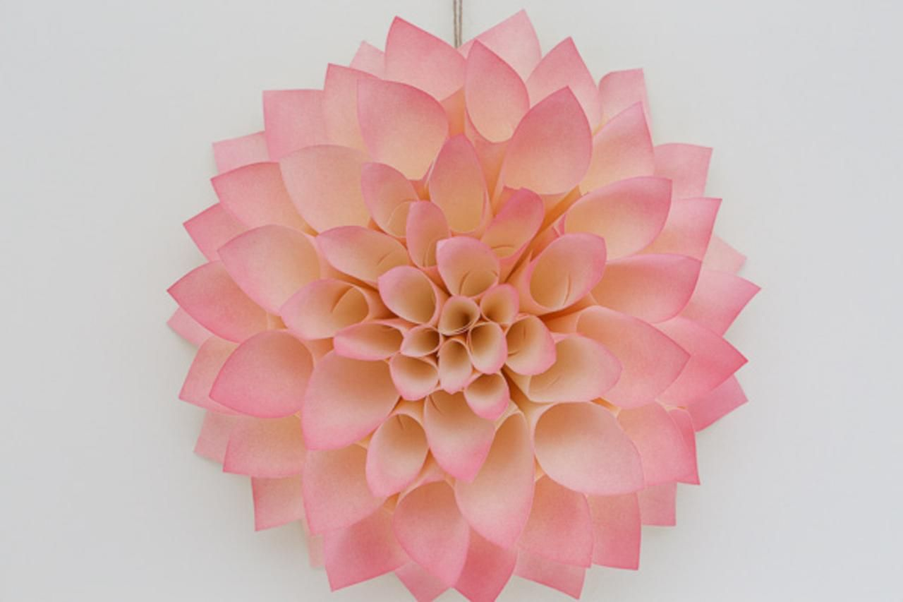 Flower power make a paper dahlia diy network dahlia and wreaths diy network shows you how to craft a hanging paper dahlia to display like a wreath jeuxipadfo Image collections