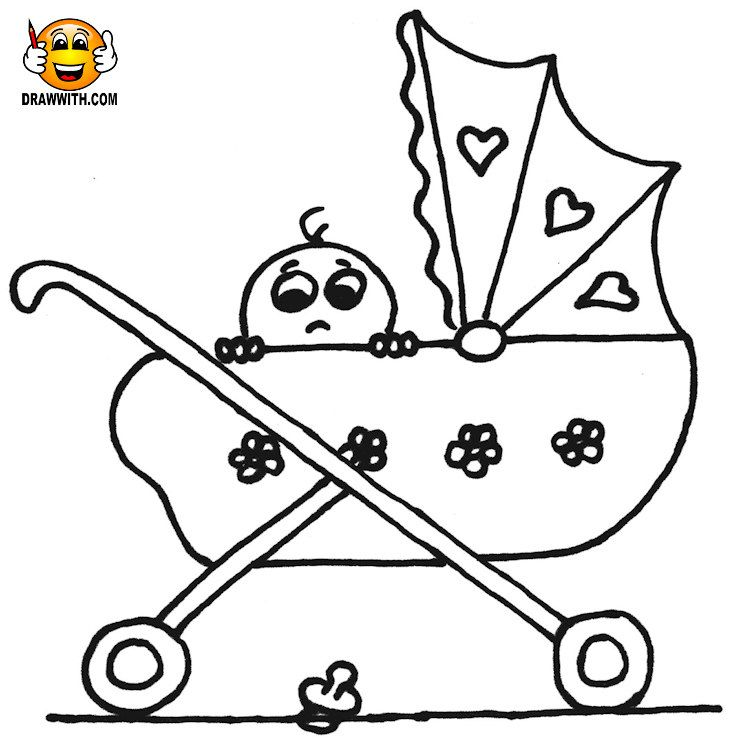 Free Baby In A Pram Coloring Pages For Kids Which Includes A Color Along Video Tutorial Coloring Page Coloring Pages For Kids Coloring For Kids Coloring Pages