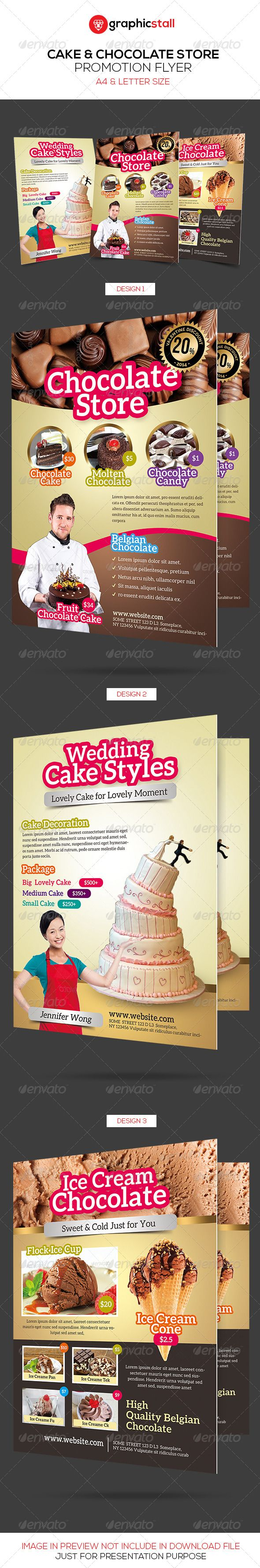cake chocolate store promotion flyer commerce flyers sweets