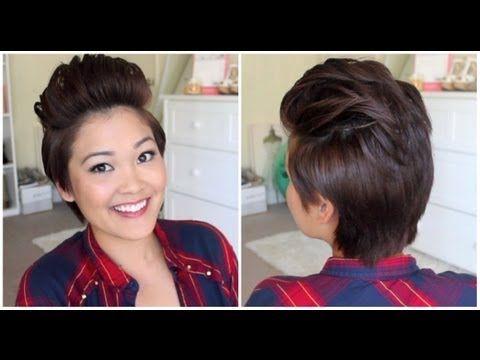 Pixie Fohawk Hair Tutorial | JaaackJack - YouTube