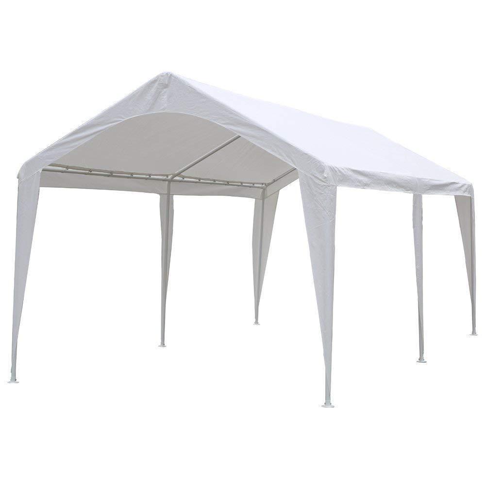 10 X 20 Feet Outdoor Carport Canopy With 6 Steel Legs Carport Canopy Canopy Steel Carports