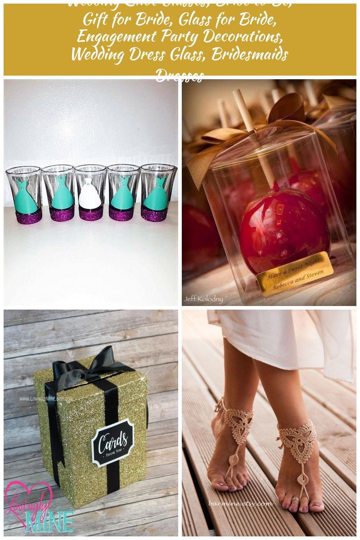 image 0 Cadeaux pour Fête Nuptiale Wedding Shot Glasses, Bride to Be, Gift for Bride, Glass for Bride, Engagement Party Decorations, Wedding Dress Glass, Bridesmaids Dresses #dressesforengagementparty