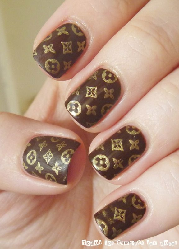 Nailpolis Museum of Nail Art | Louis Vuitton classic pattern by ...