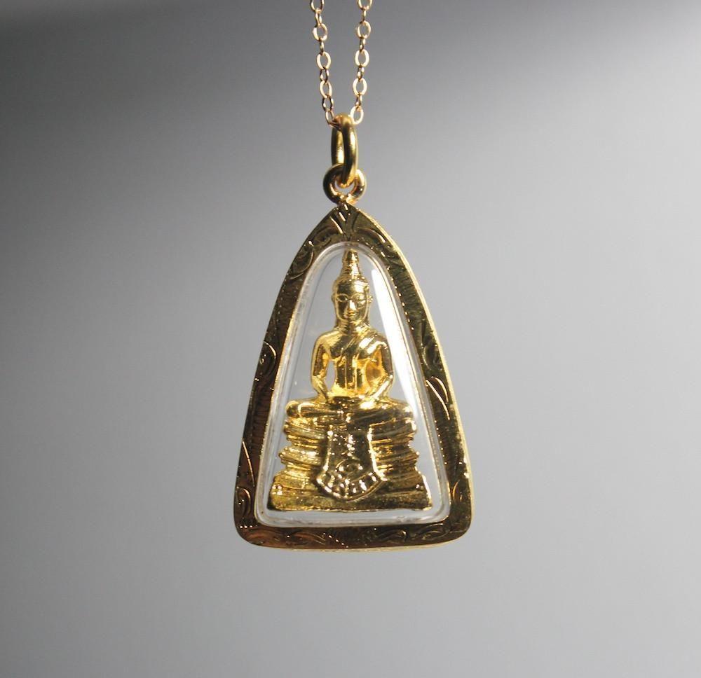 Gold Buddha Thai Amulet From Bangkok Amulet Buddhist Bracelet Gold