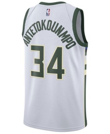 4bda31ff549 Nike Giannis Antetokounmpo Milwaukee Bucks Association Swingman Jersey, Big  Boys (8-20) - White S