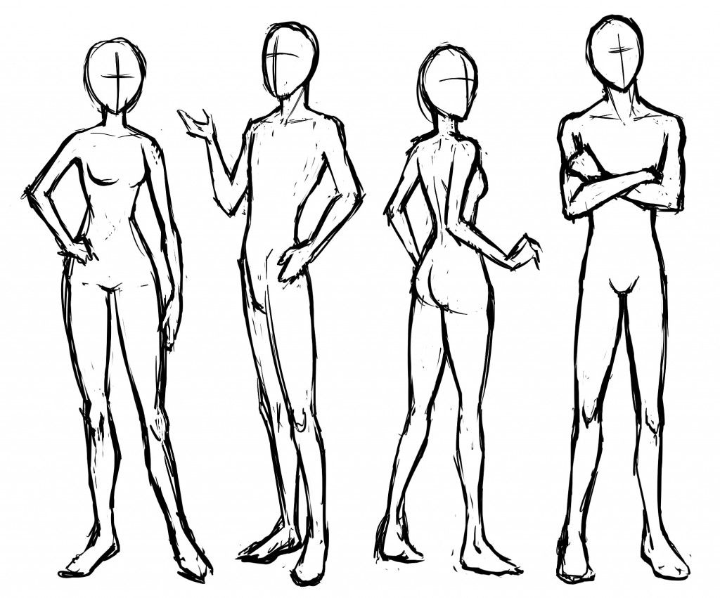 Manga Basic Poses €� Standing And Sitting  Letraset Blog  Creative  Opportunities