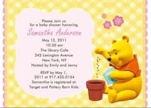 Baby shower invitations winnie the pooh baby shower invitations baby shower invitations winnie the pooh baby shower invitations yellow frame and pink background very cool winnie the pooh baby shower invitations winnie voltagebd Gallery