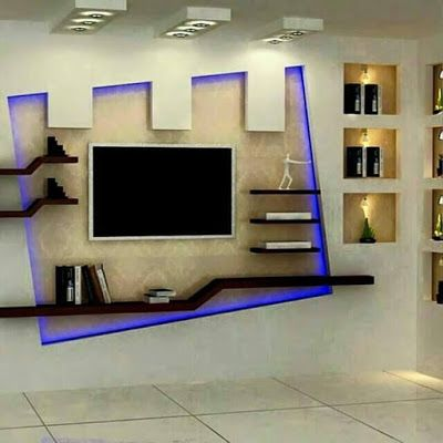 30 popular custom gypsum board tv units that people choose tv units pinterest tv units. Black Bedroom Furniture Sets. Home Design Ideas