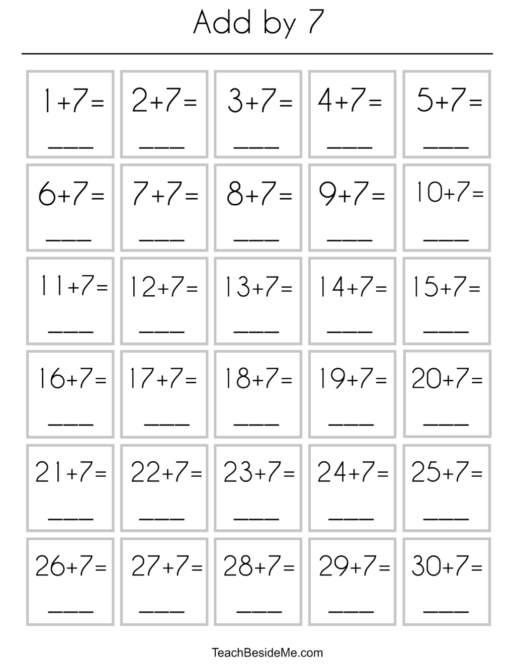 Addition Practice Worksheets In