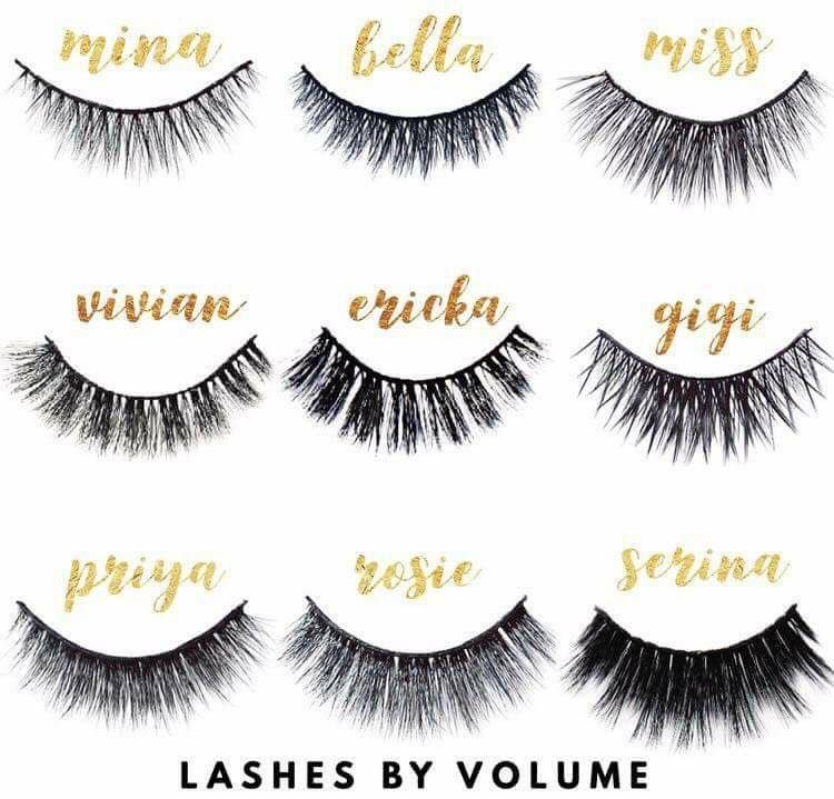d3141f8f7f3 Red Aspen lashes listed by volume. Want a natural lash? Mina! Need that  extra vavavoom for a night out dancing? Rosie, or Serina! Looking for an  everyday, ...