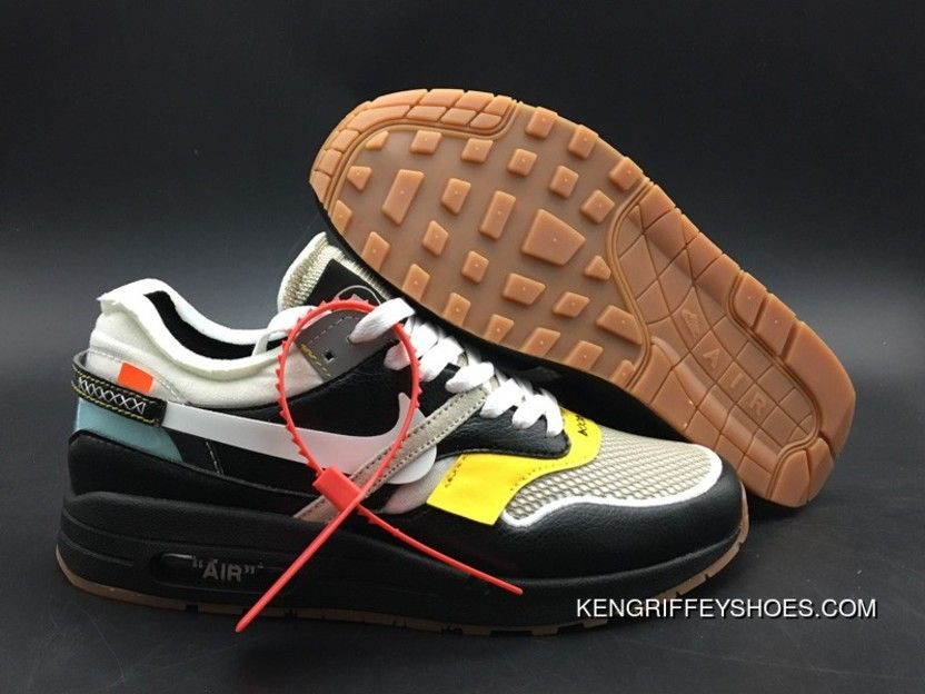 ad9977f24b9be1 BespokeIND Off-White X Nike Air Max 1 Concept Black Super Deals in ...