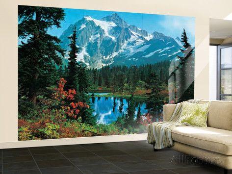 Mountain Morning Huge Wall Mural Art Print Poster Wallpaper Mural At  AllPosters.com Part 33