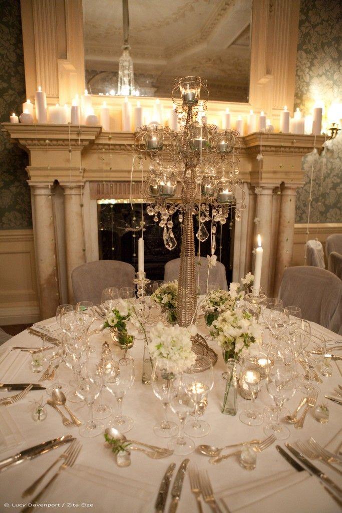 Zita Elze Wedding Flowers At Claridges White Wedding Breakfast