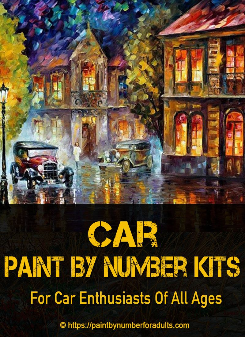 Car Paint by Number Kits Paint by number kits, Car painting