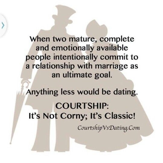 What is a courtship relationship