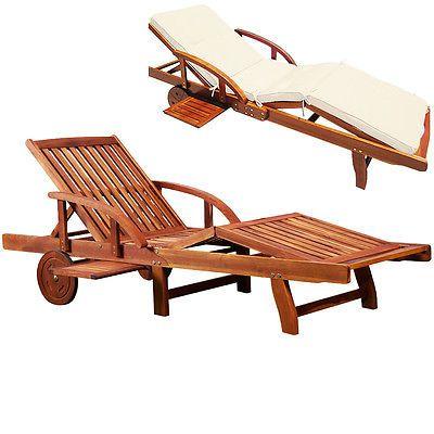 Details Zu Sonnenliege Auflage Gartenliege Relaxliege Holzliege