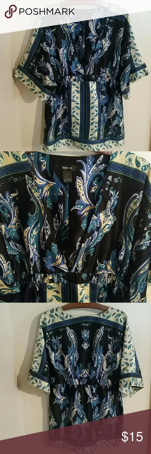 Selling this Adorable Style & Co. Deep V-Neck Tunic Size 8 in my Poshmark closet! My username is: cndlmama. #shopmycloset #poshmark #fashion #shopping #style #forsale #Style & Co #Tops
