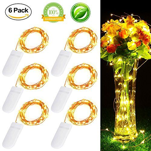 6 Pack] 20 LED Starry String Lights Battery Powered, Ankway 7.2ft ...