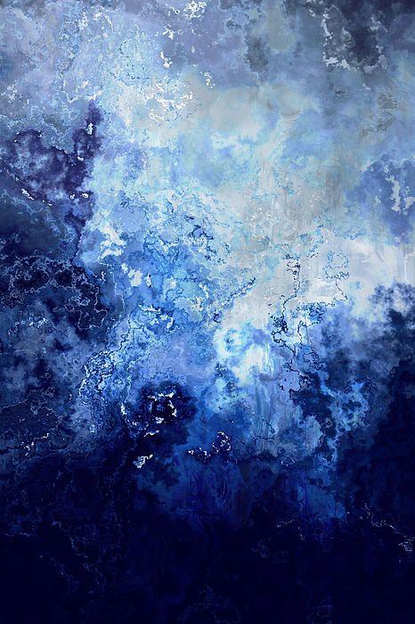 """Sapphire Dream"" by Jaison Cianelli.  Abstract Art Mixed Media.  http://www.cianellistudios.com"