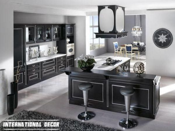 Black And White Art Deco Kitchen