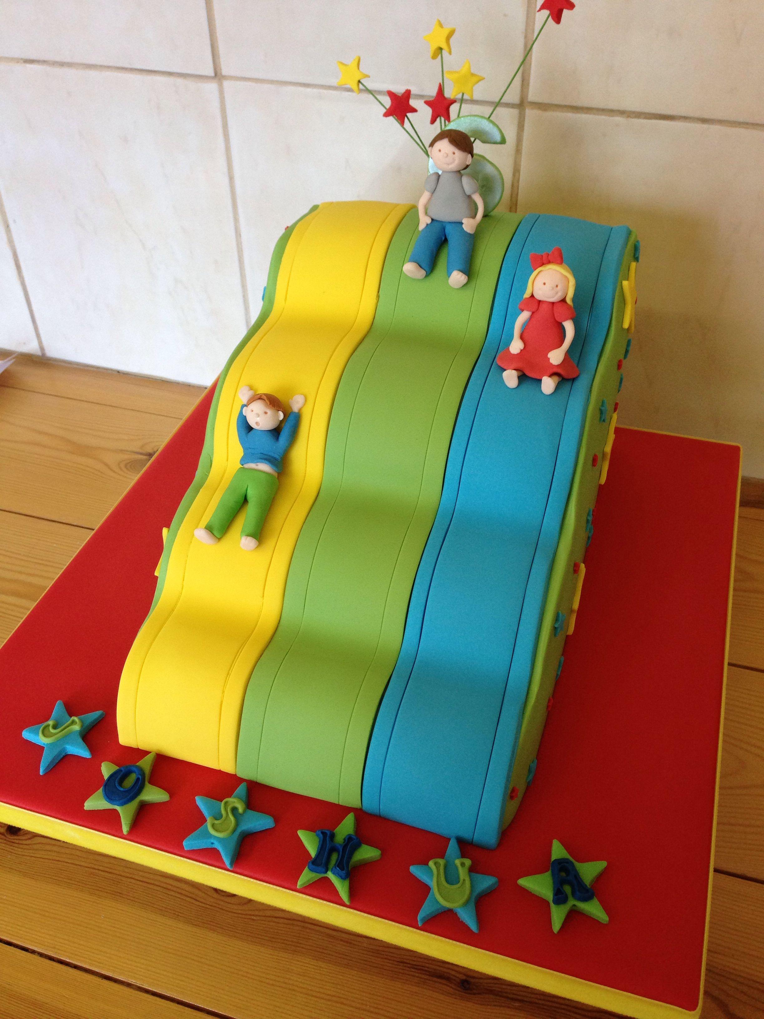 Groovy Childrens Novelty Slide Cake Castle Birthday Cakes Kids Cake Personalised Birthday Cards Veneteletsinfo