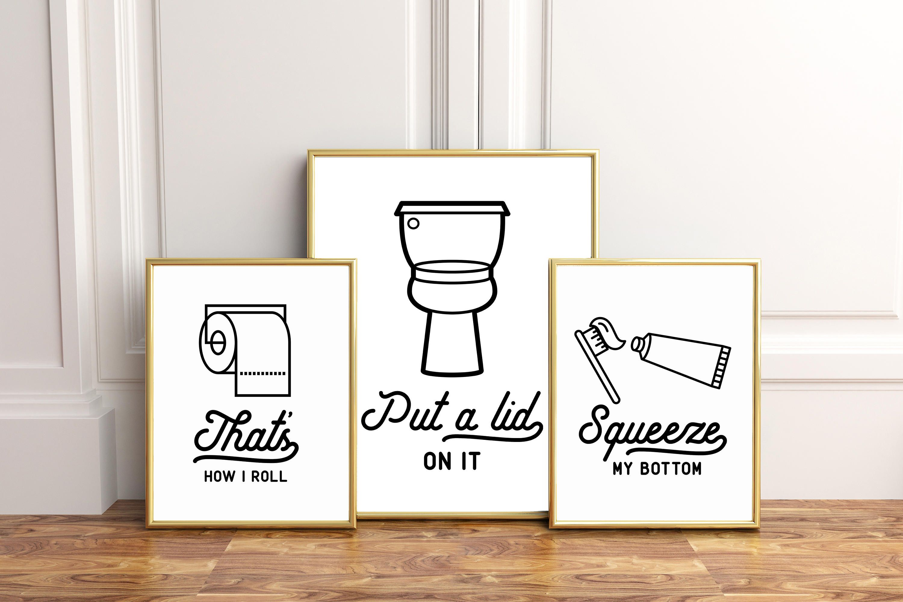 Bathroom printable art set of prints bathroom instant download